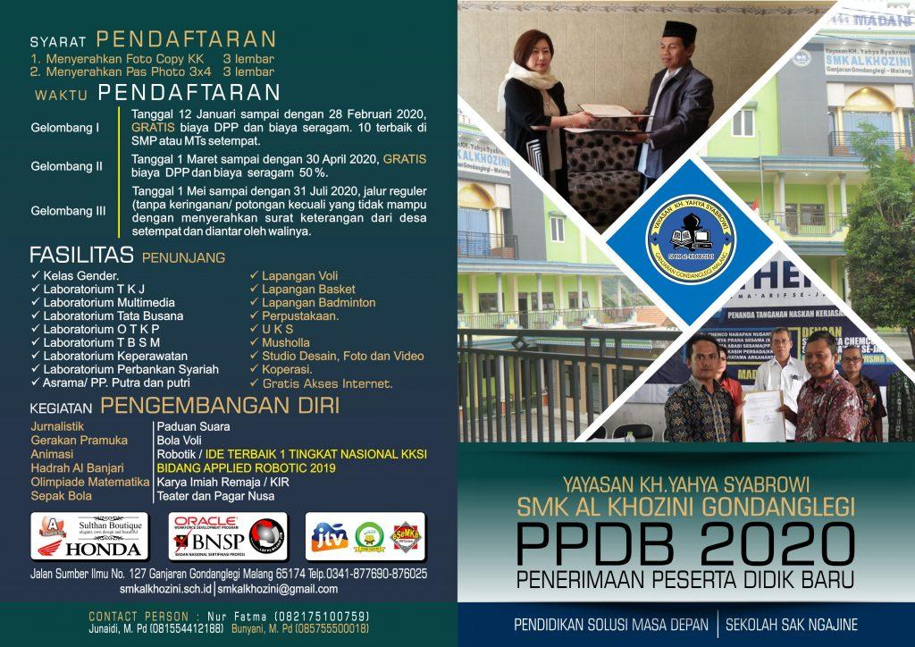 Brosur Depan PPDB 2020